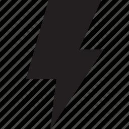 fill, lightning icon