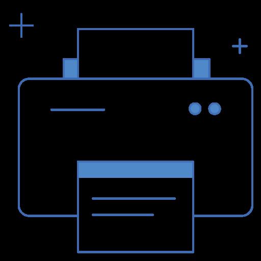 dtp, paper, print, printer, printing icon