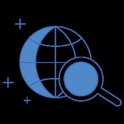 marketing, search, seo, web, zoom icon