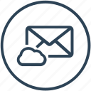 cloud, email, envelope, inbox, letter, mail, storage