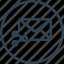 email, envelope, inbox, letter, link, mail, share