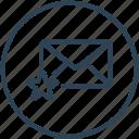 bookmark, email, envelope, inbox, letter, mail, star