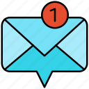 mail, new, notification, notify icon