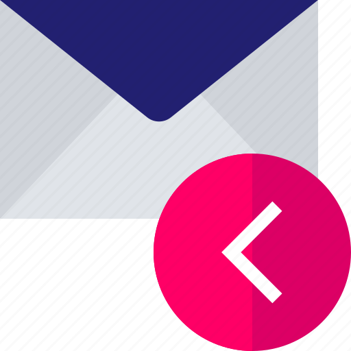 arrow, back, email, left, mail, pointer icon