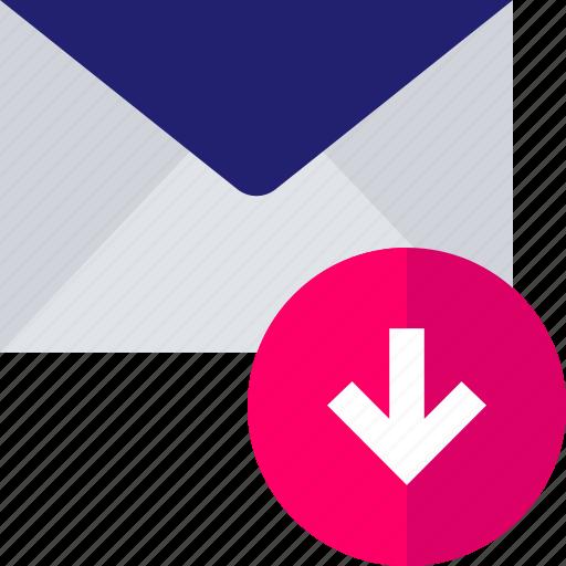 arrow, attachment, down, download, pointer icon