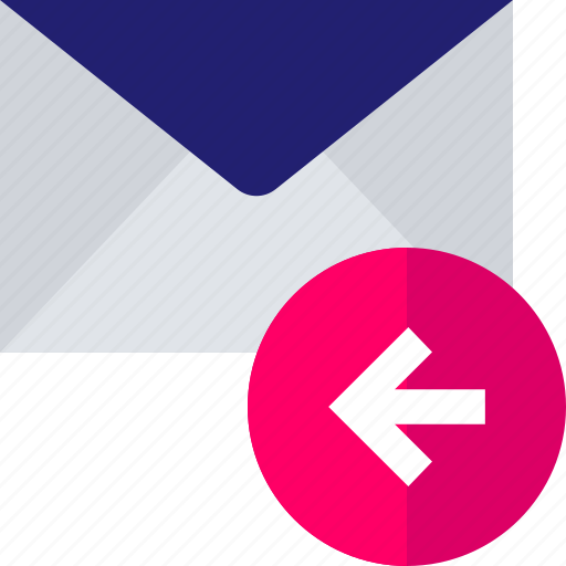 arrow, back, email, exit, left, mail icon
