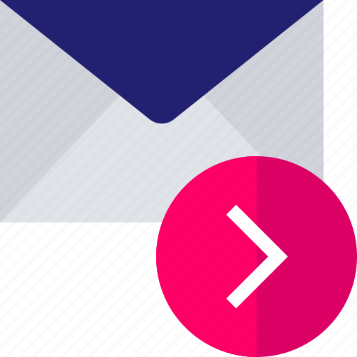 email, forward, go, mail, next icon