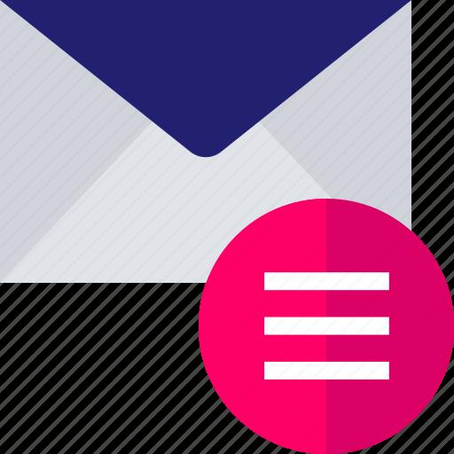email, mail, menu, options, setup icon