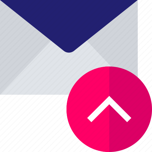 email, mail, send, up, upload icon