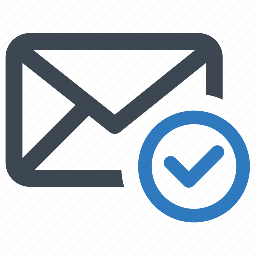 approved, email, mail icon