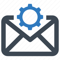 email, mail, setting icon