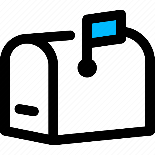 email, inbox, mailbox, post box icon