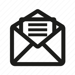 document, email, mail icon