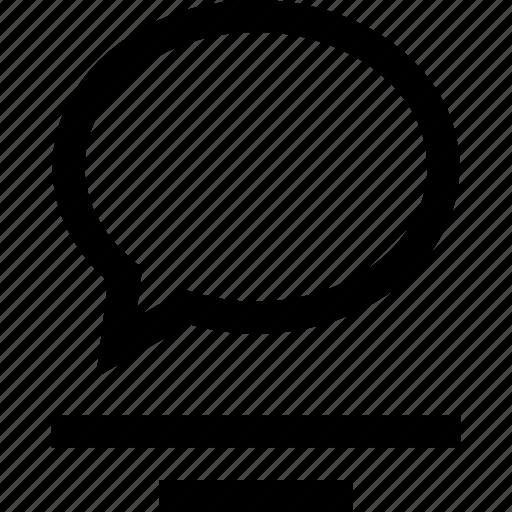 message, sms, talk icon