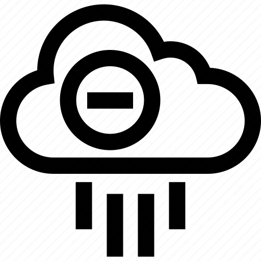 cloud, line, negative, weather icon