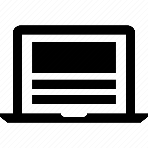 laptop, mockup, website, wireframe icon