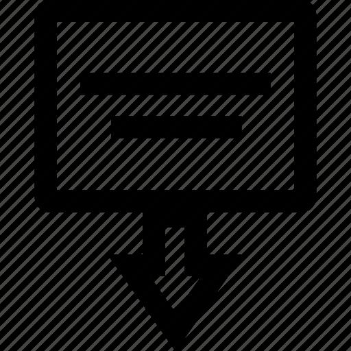 arrow, online, seo, web icon