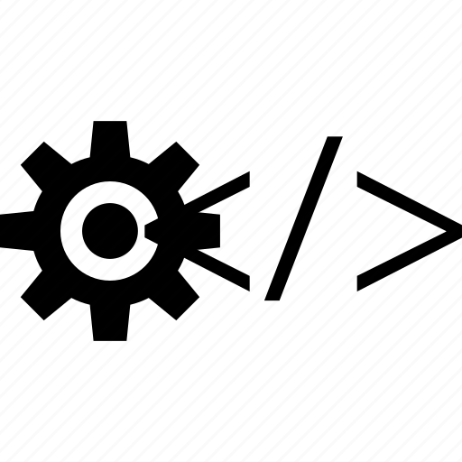 business, code, gear icon