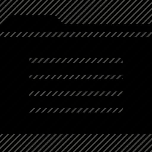 archive, folder, four, lines icon