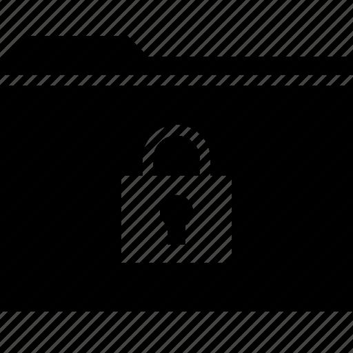 archive, folder, lock icon