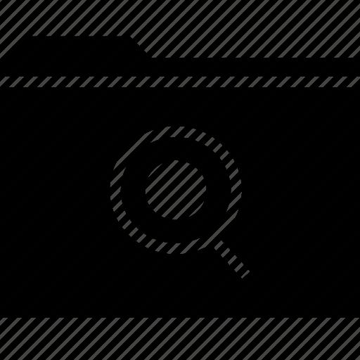 folder, glass, magnifying icon