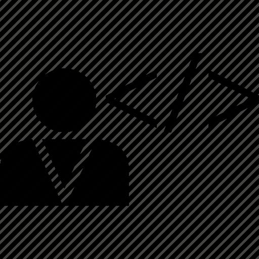 code, profile, user icon
