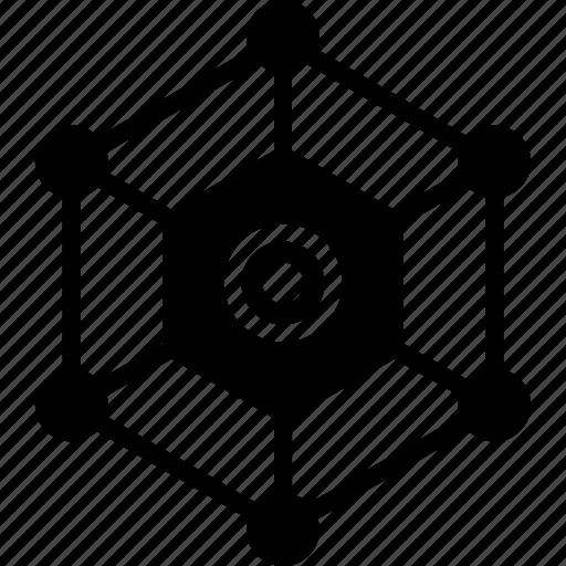 box, connect, cube, server icon