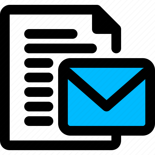 document, email, file icon