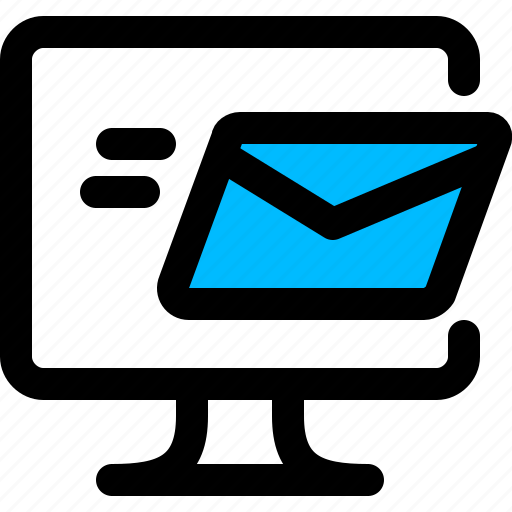 email, message, monitor, send icon