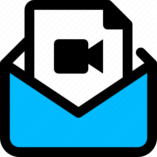 email, file, message, video icon