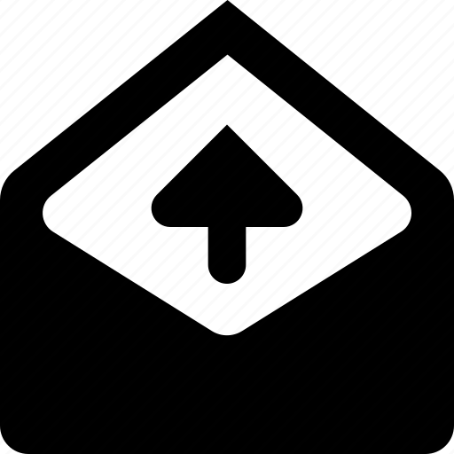 mail, upload icon