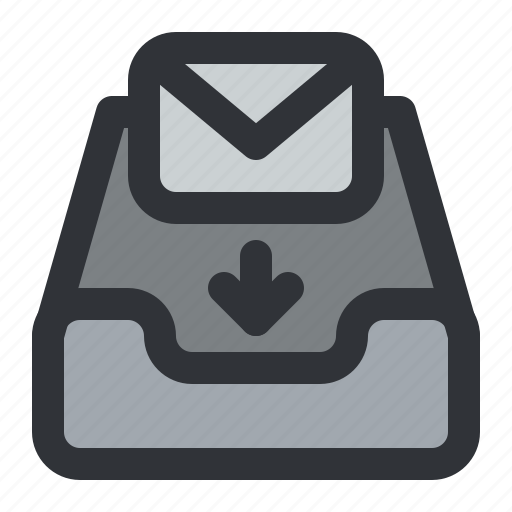 email, envelope, inbox, mail, message, receive icon