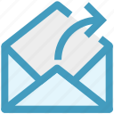 email, envelope, forward, letter, mail, message icon