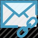chain, envelope, letter, link, message, url