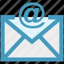 at, email, envelope, letter, message