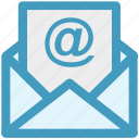 at, email, letter, message, sheet