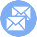 double, email, envelopes, letter, mail, messages