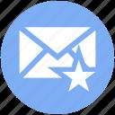 envelope, favorite, letter, mail, message, star