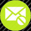 block, disable, email, envelope, letter, message