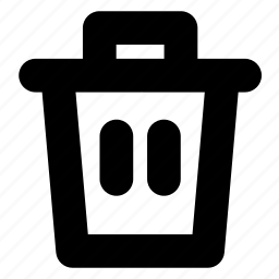 delete, garbage, junk, trash, trash can icon