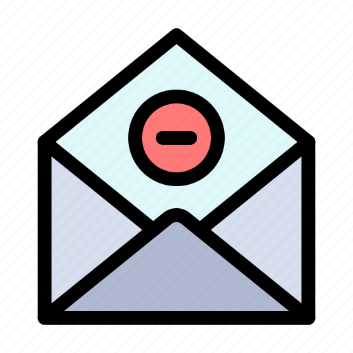 communication, delete, email, mail icon