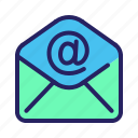 communication, email, mail, message, open, read icon