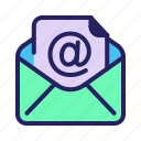 communication, email, letter, mail, message, open, read icon