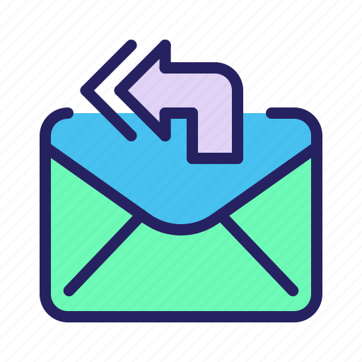 communication, email, mail, message, reply, reply all icon