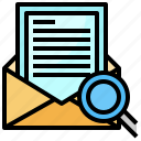communications, envelope, message, note, search