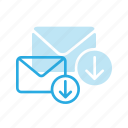 download, email, envelope, mail, message icon