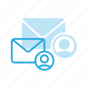 email, envelope, mail, message, personal, user icon