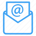 at, envelope, letter, mail, message, sign icon icon