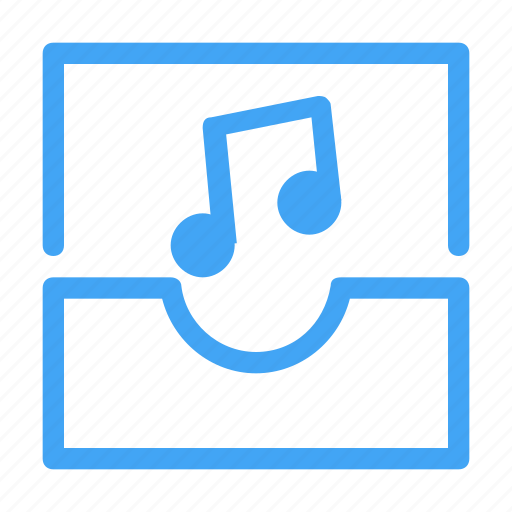 audio, email, envelope, letter, message, music icon