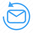 email, envelope, letter, mail, message, reload icon